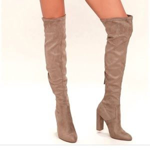 Steve Madden Emotions Boots In Taupe Sz 6.5